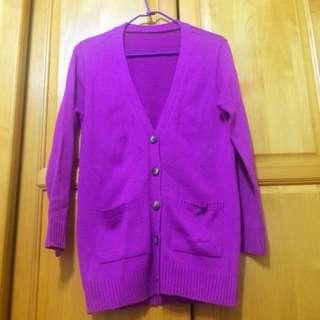 (二手)紫色針織外套