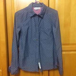 (二手)H&M 點點襯衫