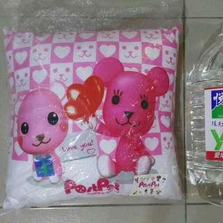 全新粉紅色小熊熊絨毛抱枕娃娃