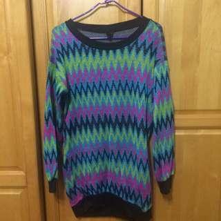 (二手)彩色圖騰毛衣