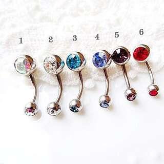 316L鋼針 基本款鋼針單鑽肚臍環