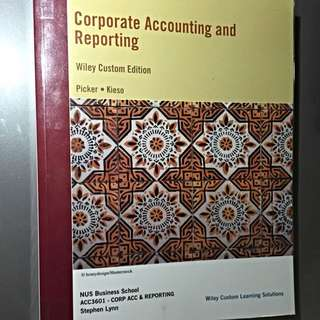 ACC3601 - Corporate Accounting And Reporting