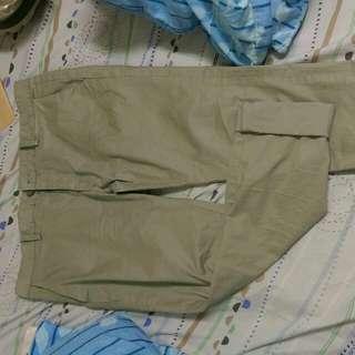 Zara窄管工作褲34腰