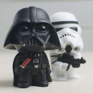 (少量現貨)Star Wars 黑武士白武士小公仔 一對賣約11公分超可愛