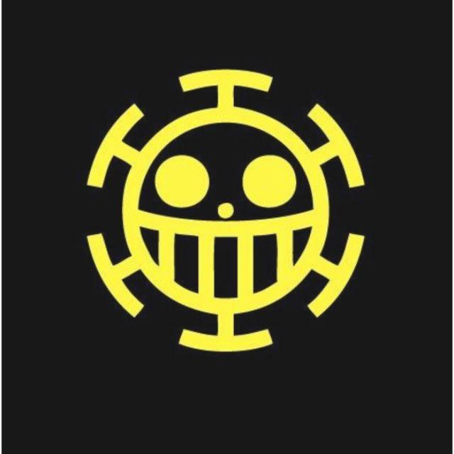 "3M反光防水貼紙 海賊王 ""紅心海賊團"" 骷髏頭 防水反光貼紙"