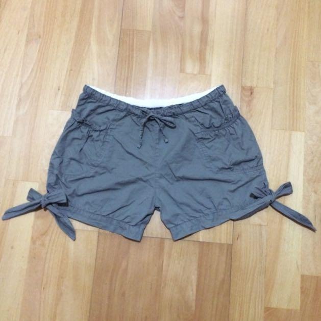 (特價!)墨綠色綁帶蝴蝶結短褲 #兩百元短褲