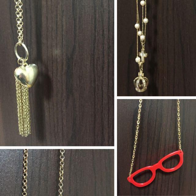 項鍊 飾品 經典 愛迪達 眼鏡 麋鹿 愛心 月亮