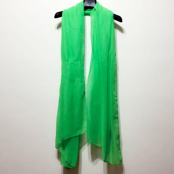 螢光綠絲巾