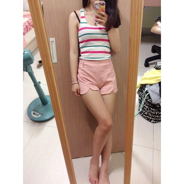 粉色波點短褲