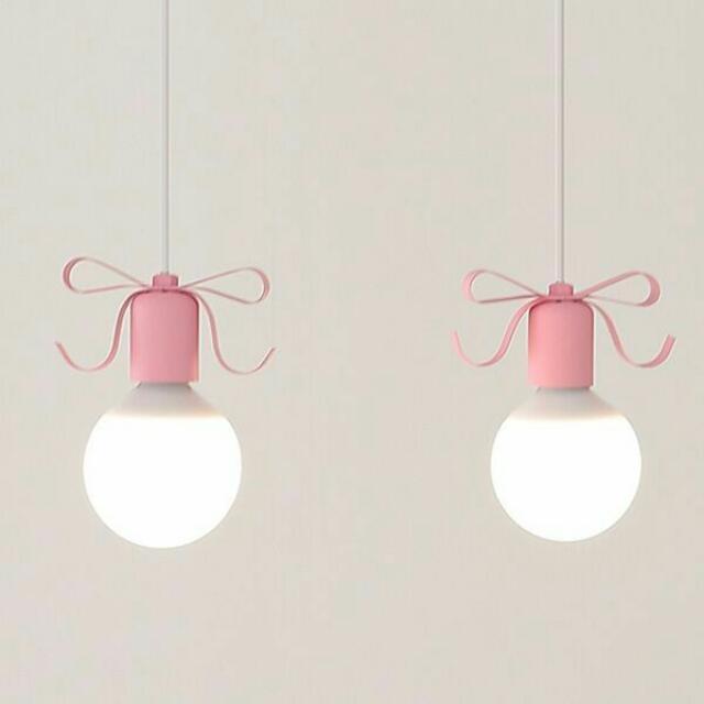 降價:韓國燈具燈泡 超可愛蝴蝶結