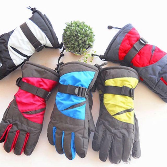 男款 防風保暖機車手套 只有藍色