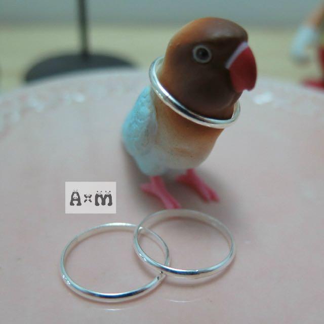 單環 戒指 搭配用 925全純銀系列