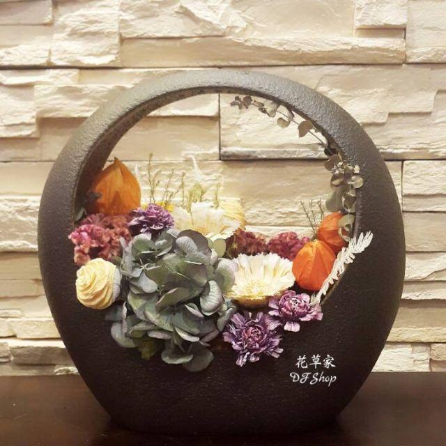 乾燥花 仿石 陶器 居家 裝飾 盆花
