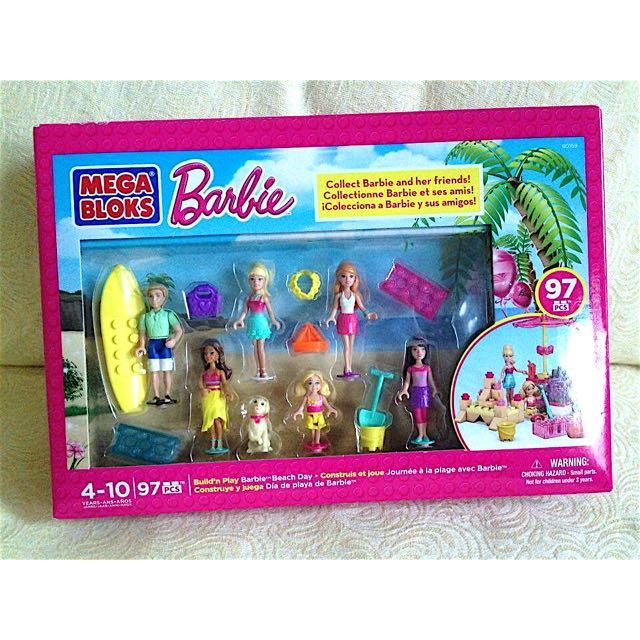 全新 美國原裝 Barbie 芭比 積木 97片 Mega Bloks