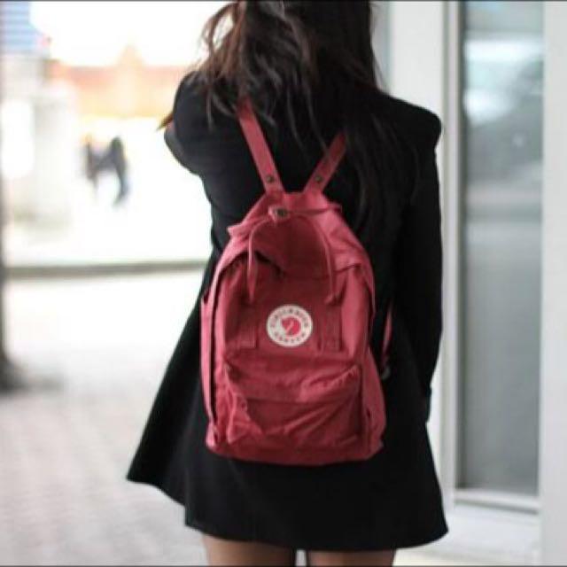 kanken rucksack ox red