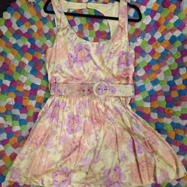 Floral Size 16 Cotton Sun dress