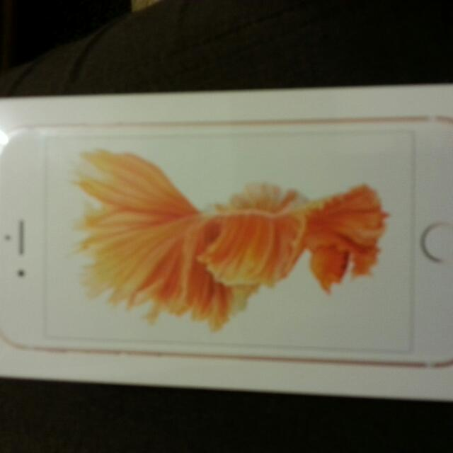 I phone6s玫瑰金4.7全新未拆封,建議面交。