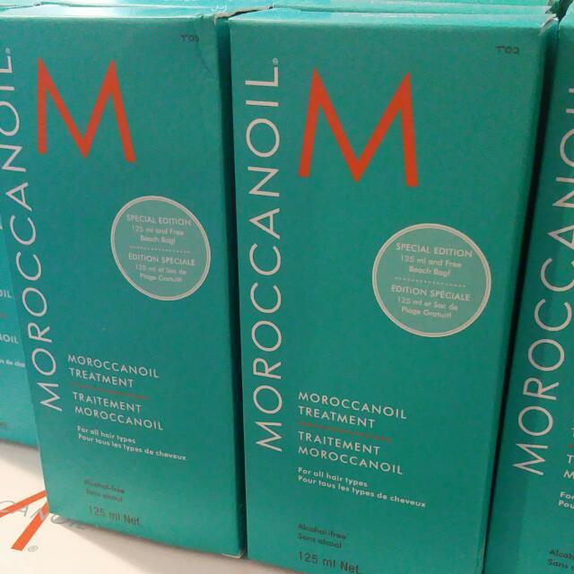 Moroccanoil 125ml & Pump. Brand New In Box