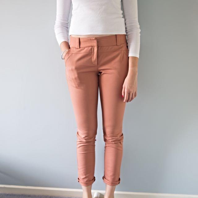 Peach 3/4 Length Cue Pants