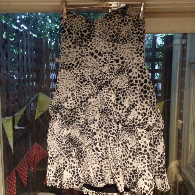 Rockin' Leopard Print Strapless Dress Size 14