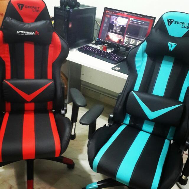 Secret Lab Throne Gaming Chair V1 Blue Furniture On