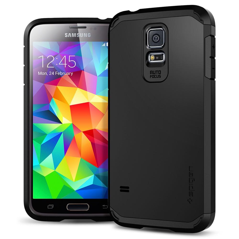 best cheap 78320 e4f0c SPIGEN Tough Armour Case for SAMSUNG Galaxy S5 (Black)