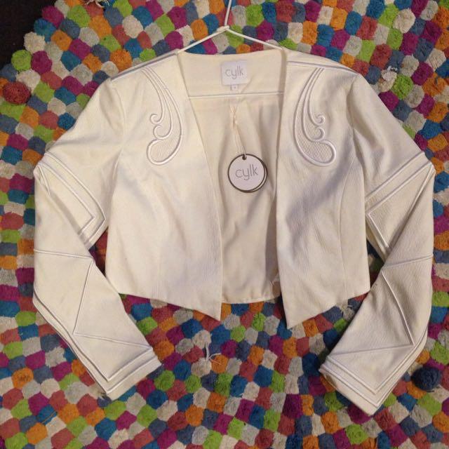 Stunning White Bolero Jacket Size 3