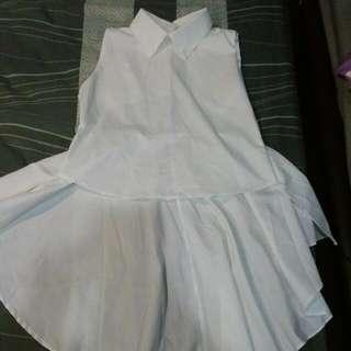 Collar White Dress