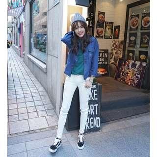 (轉賣)洋芋妹 正韓710中腰超顯瘦素色百搭窄管牛仔褲