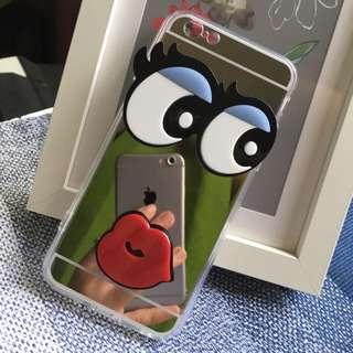 韓國大眼睛鏡子iPhone手機殼