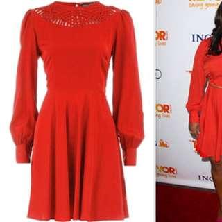 Dorothy Perkins Salmon Dress Size UK 6