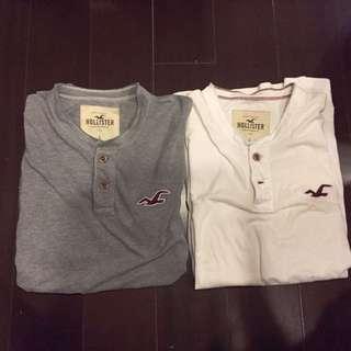 Hollister亨利領短T-shirt