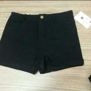 (BN) Black Highwaist Shorts