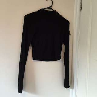 cropped top longsleeve