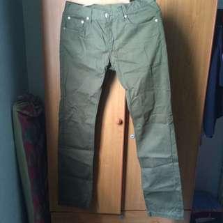 韓版 軍綠色長褲