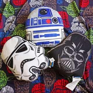 星際大戰Starwars 靠枕抱枕 白兵/黑武士/R2D2一套特價