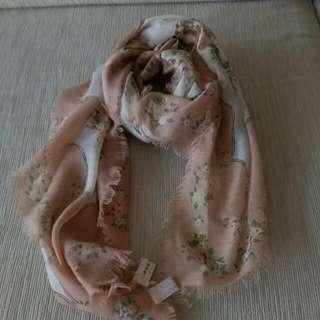 日本購入碎花方巾(含環)