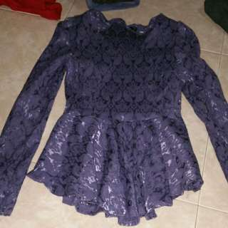 purple flower peplum
