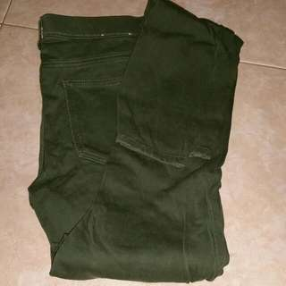 uniqlo army green long pants