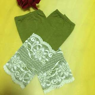 Lace Handsock In Apple Green