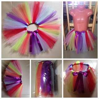 BN Rainbow Colored Tutu Skirt