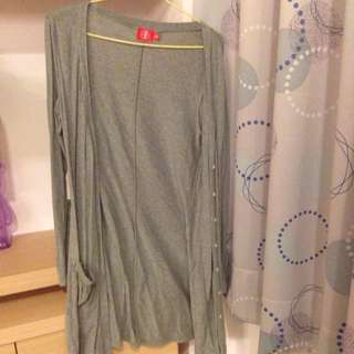 棉質長版外套