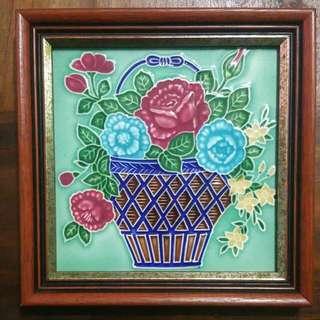 Framed Peranakan Embossed Tile