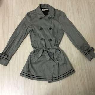 b+ab 灰色條紋風衣