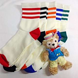 ✨條紋運動長襪✨