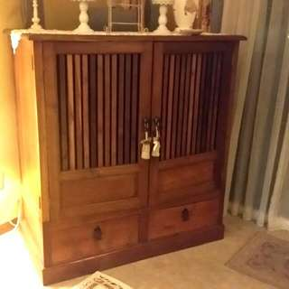 Rare Teakwood TV Console