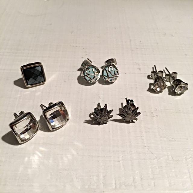 [降價,九成新]耳針式耳環 全組