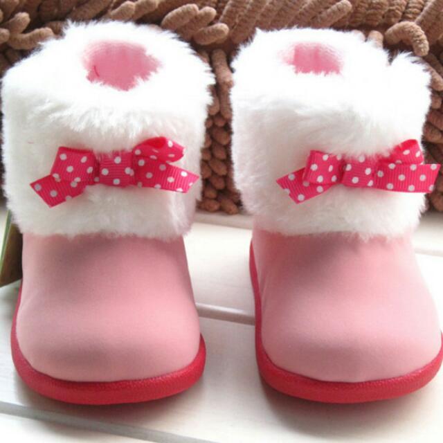 粉色小佳人可愛女寶靴