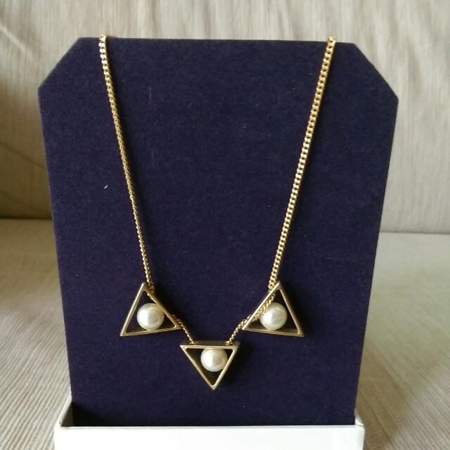 珍珠金色長項鍊