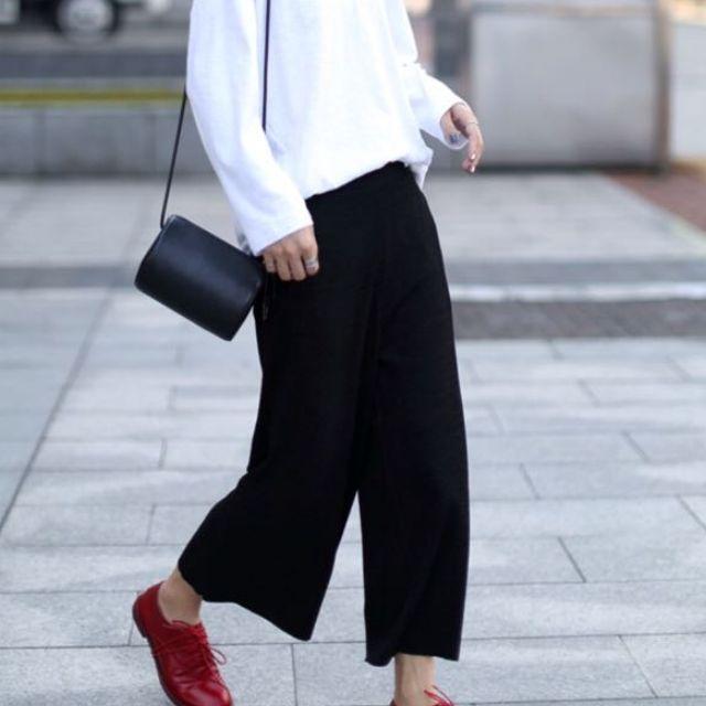 韓國羊毛寬褲